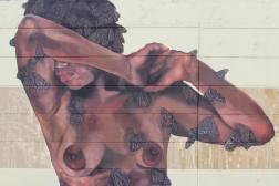 La negra que es como el Moriviví... Luego del acto de vandalizmo al Mural de la Negra en la Ave. Fernandez Juncos, realizado por el Colectivo Moriviví junto a Paz para la Mujer, más de una docena de mujeres se quitaron las camisas en protesta y en un acto de solidadidar para condenar la violencia, que esta vez estuvo representada por la censura al mural… http://remezcla.com/features/moriviv-mural-vandalized-puerto-rico/